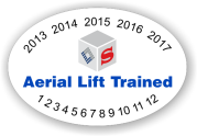 Aerial Lift Trained Hard Hat Oval